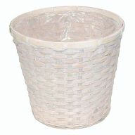 "12"" Bamboo Basket w/ Liner (HOLDS 10"" POT)"