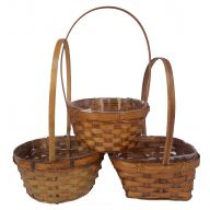 "3 Assorted 6 "" Baskets W / Liners ( Case of 72 )"