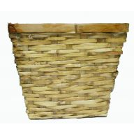 "11 "" Rattan Square Pot Cover"