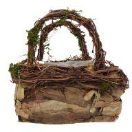 Rectangle Mountain Rattan Peel basket W/ Liner