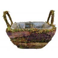 Purple Birch Grass Basket W/ Liner