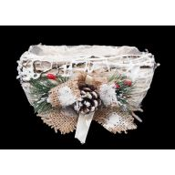 Rectangle Rattan Christmas Planter