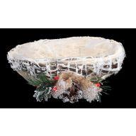 Oval Christmas Planter Basket W Liner
