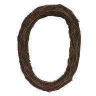"Rattan Oval Wreath - 19"" X 27"""