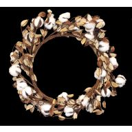 "18 "" Cotton Wreath w / Leaves"