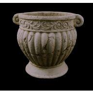 """8 """" Round Pot 8.25 X 8.25 X 8.25 """" - Stone"""