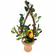 "22"" Pumpkin Gourd Topiary In Pot"