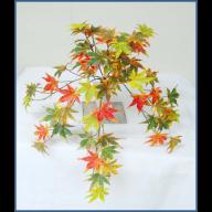 X 8 Fall Maple Leaf Hanging Bush