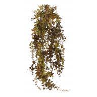 X 5 Plastic Maidenhair Fern Hanging Bush - Green