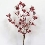"16"" Snowy Berry Bush - Red"