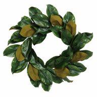 """20 """" Magnolia Wreath 39 Leaves K/D"""