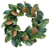 "24 "" Magnolia Wreath 60 Leaves"