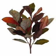 Magnolia Leaf Bush 32 Leaves - Orange / Burgundy / Brown