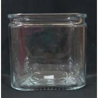 "5.5 X 5.5 X 5.5"" Glass Cube - Clear (SHIPS BY PALLET ONLY)"