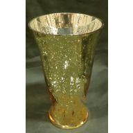 "4.75 x 8 "" Tall Glass Vase - Gold / Mercury"