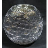 "7.25 x 6 "" Round Bubble Ball - Silver"