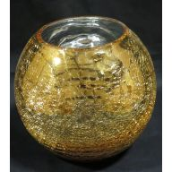 "7.25 x 6 "" Round Bubble Ball - Gold"