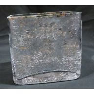"5 x 5 x 5 "" Cube Glass Vase - Silver"