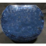 "6 x 4.5 "" Round Bubble Ball Crackle w / Blue  Outside"