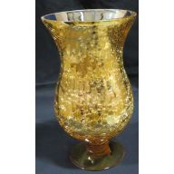 "5 x 9.75 "" Vase - Gold Crackle"
