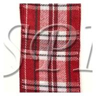 50 yd Wired Country Plaid - Red / Black / White