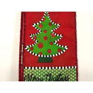 "2.5 "" x 50 yd Fun "" Merry Christmas "" / Tree / Polka Dots - Red / Lime / Black / White (CH0940-213)"