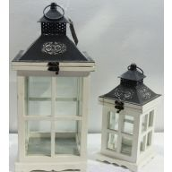 S / 2 Square Metal Lantern (SHIPS BY PALLET ONLY)