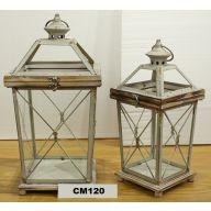 S/2 Lantern L-8.75X8.75X19, S-5X5X12 (SHIPS BY PALLET ONLY)