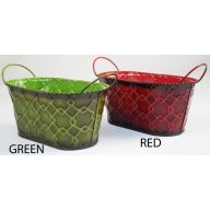 """9"""" X 5"""" X 4"""" OVAL PLANTER W/ EAR HANDLE (2  SOLD INDIVIDUALLY & ASSORTMENT)"""