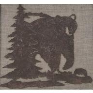 Metal Bear / Tree Plaque 10 X 9.3