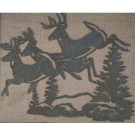 Metal Deer Plaque 14 X 11.4