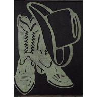 "Metal Cowboy Shoes / Hat 9.9 X 14 """