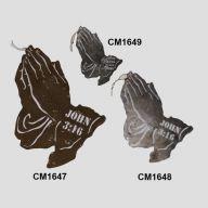 Metal Praying Hands John 3:16
