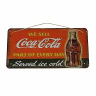 "11.75""L X 6""H Metal ""Coca-Cola"" Sign"