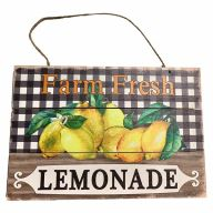 Wooden Sign With Rope  Lemonade 12X8