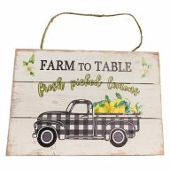 Wooden Sign With Rope Farm To Table 12X8