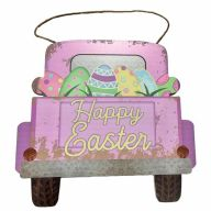 Mdf Sign With Rope Happy Easter 12X8