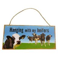 Mdf Sign With Rope Hanging With My Heifers 12X5
