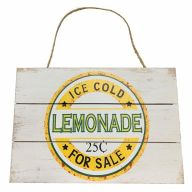 Mdf Sign With Rope Ice Cold Lemonade For Sale 12X8