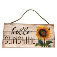 Mdf Sign With Rope Hello Sunshine 12X5