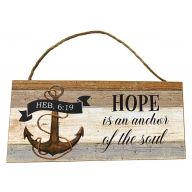 Mdf Sign With Rope Hope Is An Anchor Of The Soul 12X5
