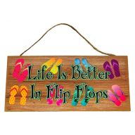 Mdf Sign With Rope Life Is Better In Flip Flops 12X5