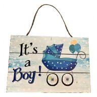 Wooden Sign With Rope It's A Boy 12X8