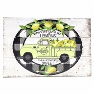 """12"""" X 8"""" Wooden """"When Life Gives You Lemons"""" Truck Sign w/ Rope"""