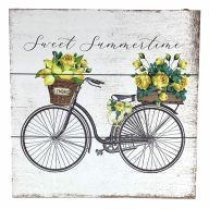 """10"""" X 10"""" MDF """"Sweet Summertime"""" Sign w/ Rope"""