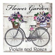 """10"""" X 10"""" MDF """"Flower Garden"""" Sign w/ Rope"""