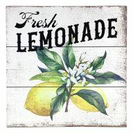 "10"" X 10"" MDF ""Fresh Lemonade"" Sign w/ Rope"