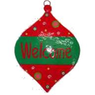 WELCOME ORNAMENT PLAQUE 10X0.5X14