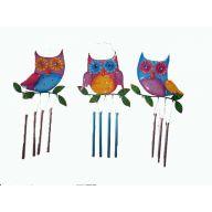 METAL OWL CHIME 10.5X0.75X20.5