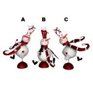 "8"" X 5.5"" X 16"" Metal Snowman Decor"